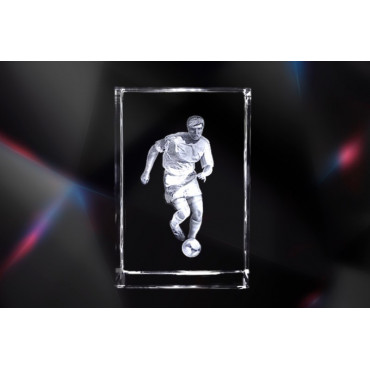 Design Football Player | Exklusive 3D Kristallglas Motive