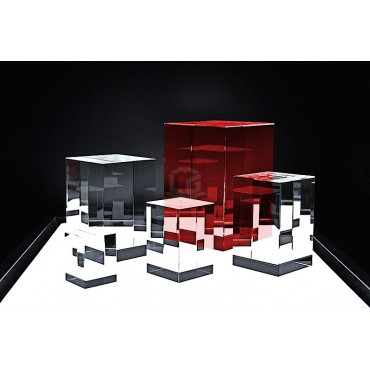 Quader STANDARD R120 - Ihr Glasfoto in 3D